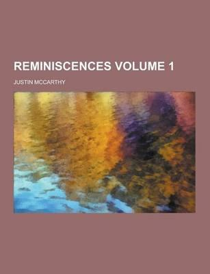 Reminiscences Volume...