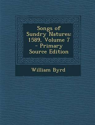 Songs of Sundry Natures