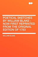 Poetical Sketches by...