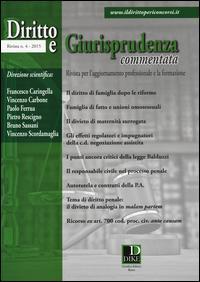 Diritto e giurisprudenza commentata (2015)