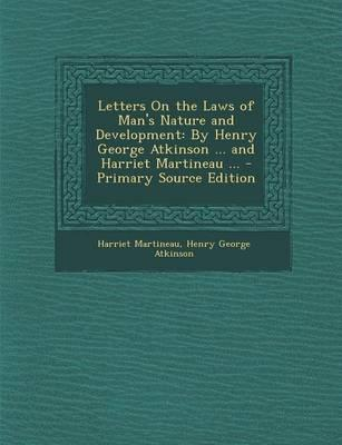Letters on the Laws of Man's Nature and Development