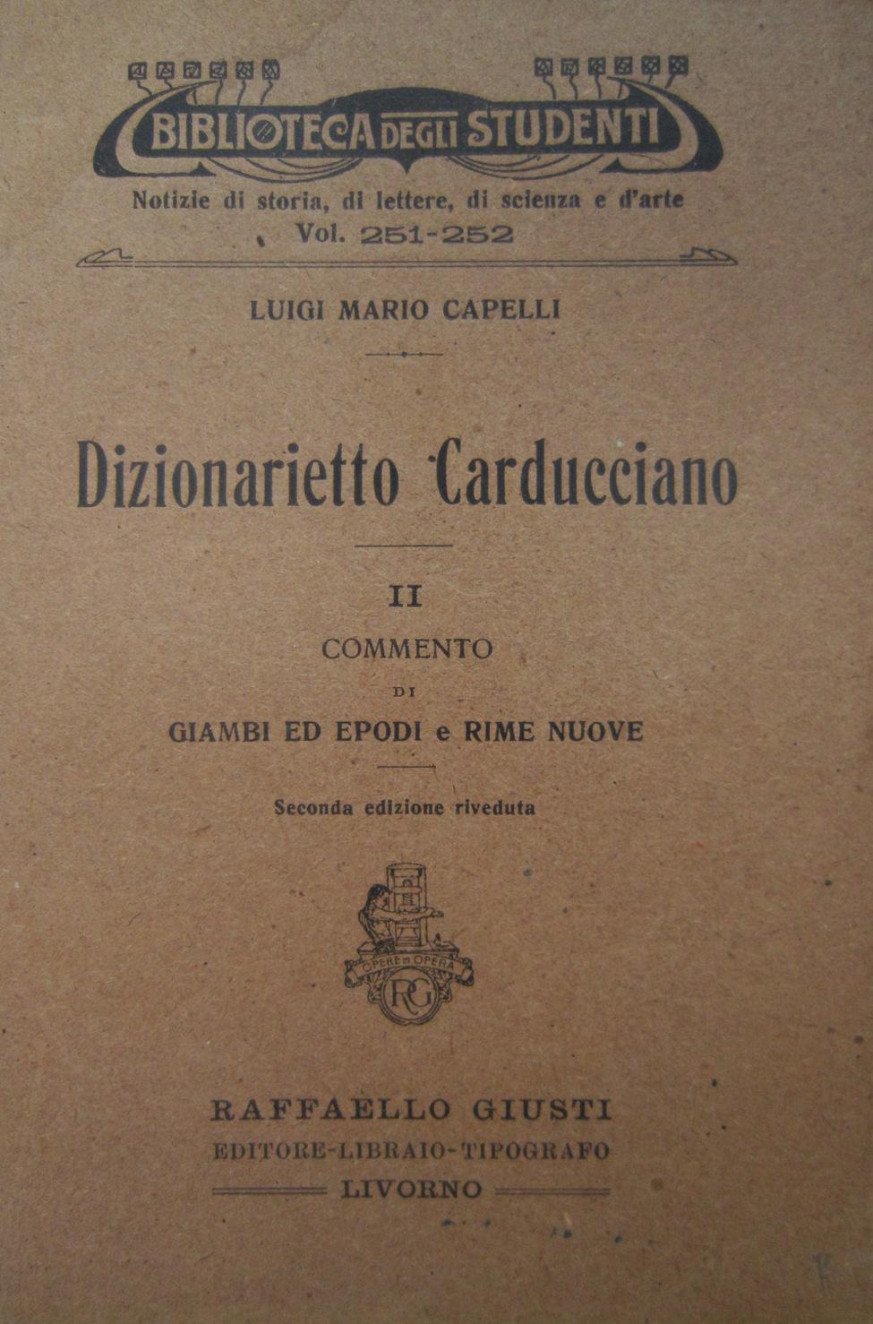 Dizionarietto Carducciano II