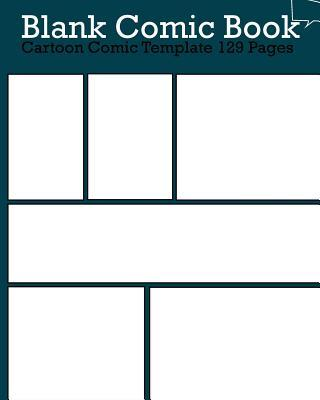 Blank Comic Book Pages Cartoon Comic Template