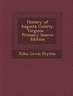 History of Augusta County, Virginia