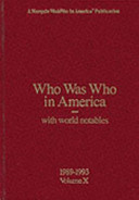 Who was who in America with World Notables