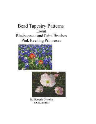 Bead Tapestry Patterns Loom Bluebonnets and Paint Brushes Pink Evening Primroses