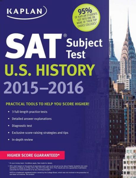 SAT Subject Test U.S. History 2015-2016