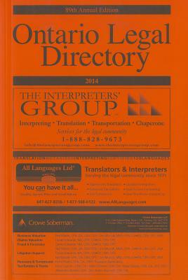 Ontario Legal Directory, 2014