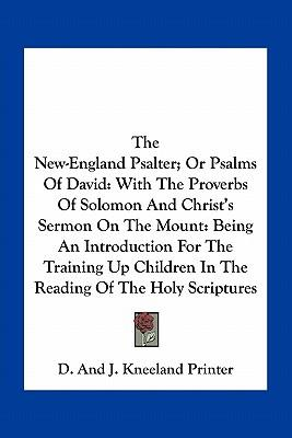The New-England Psalter; Or Psalms of David
