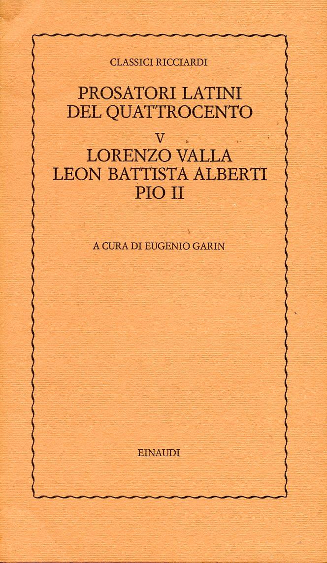Prosatori latini del...