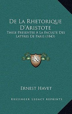 de La Rhetorique D'Aristote
