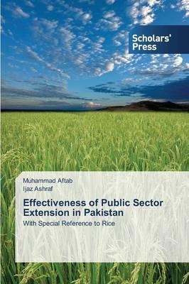 Effectiveness of Public Sector Extension in Pakistan