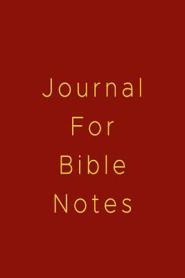 Journal for Bible Notes