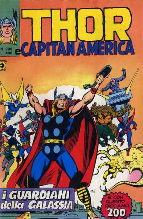 Thor e Capitan America (Il Mitico Thor) n. 200