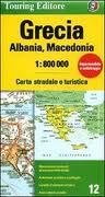Grecia, Albania, Macedonia 1:800.000. Carta stradale e turistica