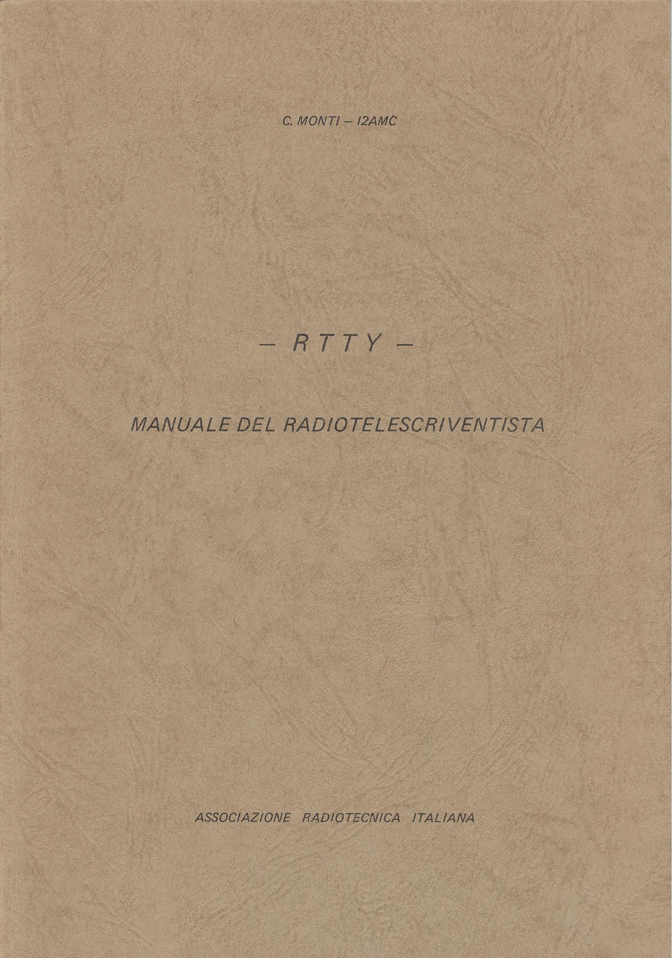 RTTY - Manuale del telescriventista