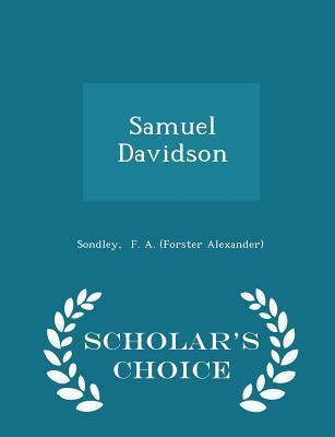 Samuel Davidson - Scholar's Choice Edition