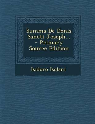 Summa de Donis Sancti Joseph...