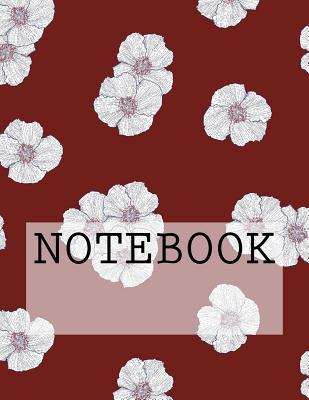 Notebook Flower Petals in Red, Lake District. Ruled 8.5 X 11