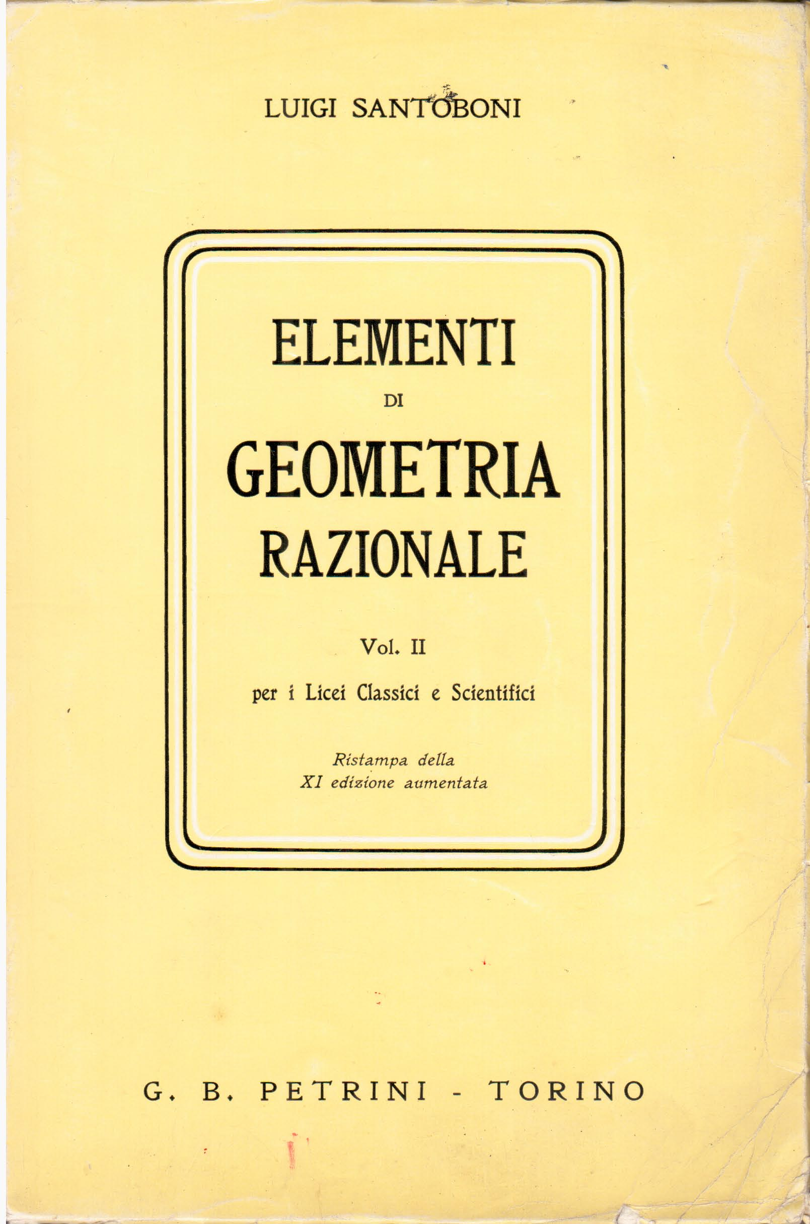 Elementi di geometria razionale - vol. 2