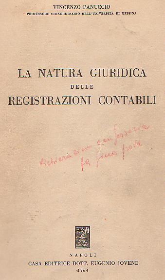 La natura giuridica delle registrazioni contabili
