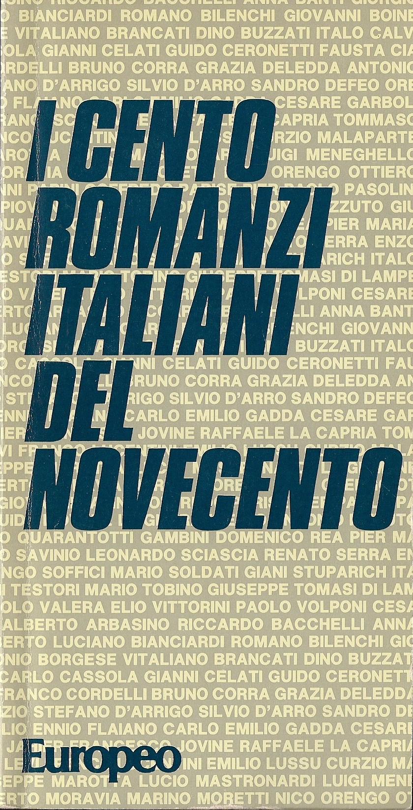 I cento romanzi italiani del novecento
