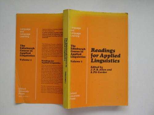 The Edinburgh Course in Applied Linguistics, Vol. 1