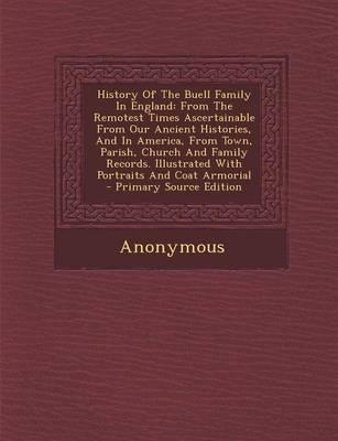 History of the Buell Family in England
