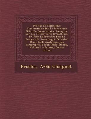 Proclus Le Philosophe