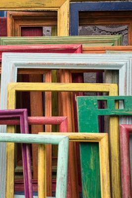 Artsy Rainbow of Colorful Picture Frames