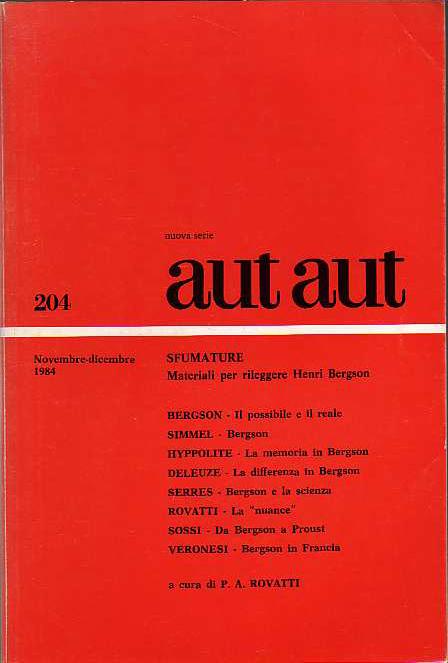 Aut Aut / 204