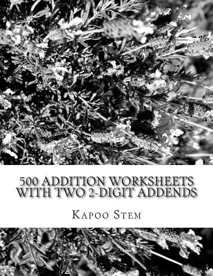 500 Addition Worksheets With Two 2-digit Addends