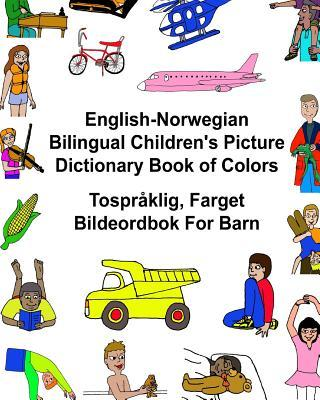 Children's Picture Dictionary Book of Colors Tospråklig, Farget Bildeordbok for Barn