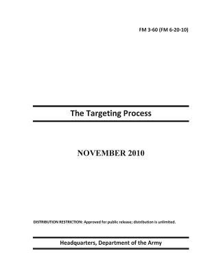 Field Manual Fm 3-60 Fm 6-20-10 - the Targeting Process, November 2010