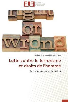 Lutte Contre le Terrorisme et Droits de l'Homme