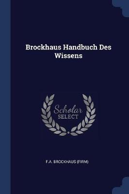 Brockhaus Handbuch Des Wissens