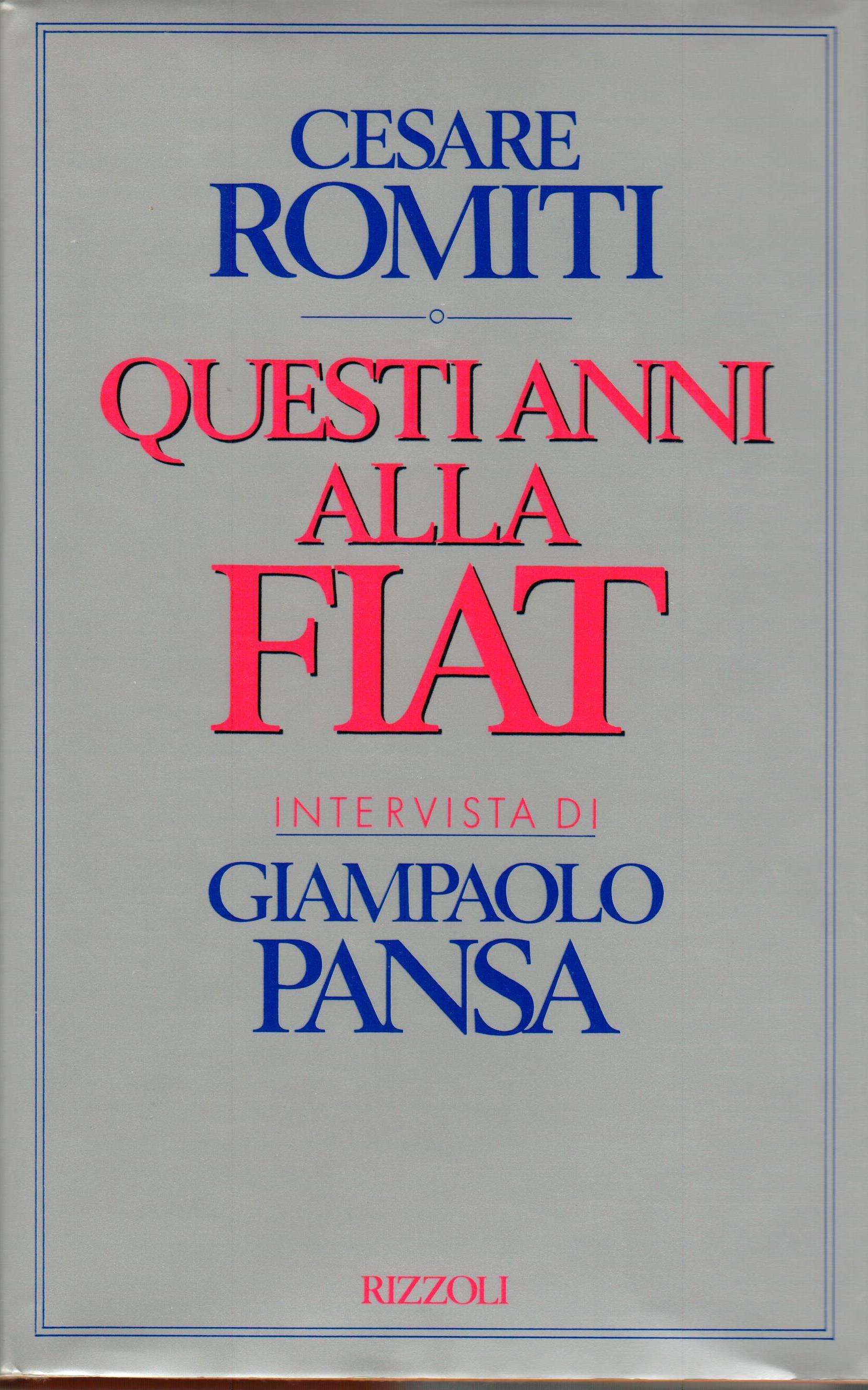 Questi anni alla Fiat