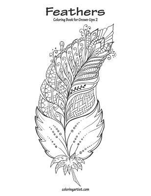 Feathers Coloring Book for Grown-Ups 2