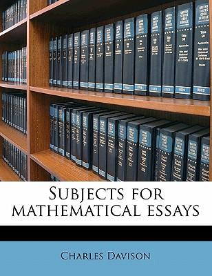Subjects for Mathema...