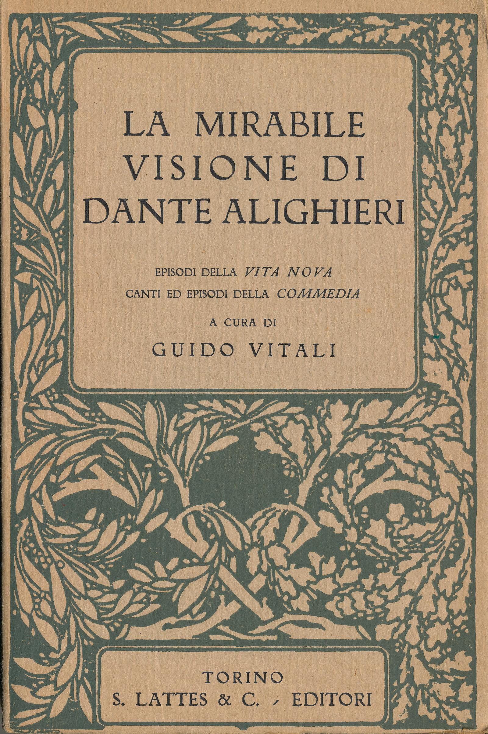 La mirabile visione di Dante Alighieri