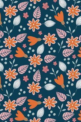 Journal Notebook Orange Leafy Pattern