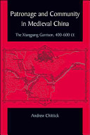 Patronage and Community in Medieval China