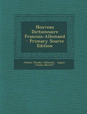 Nouveau Dictionnaire Francois-Allemand
