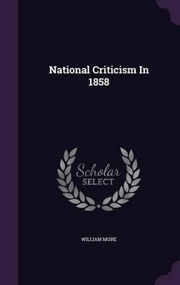 National Criticism in 1858