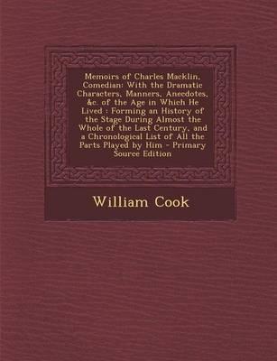 Memoirs of Charles Macklin, Comedian