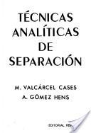 Técnicas analíticas de separación