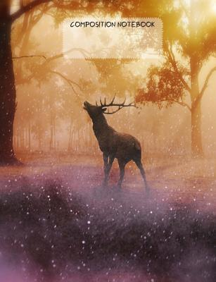 Elk at Dawn College Rule Composition Notebook