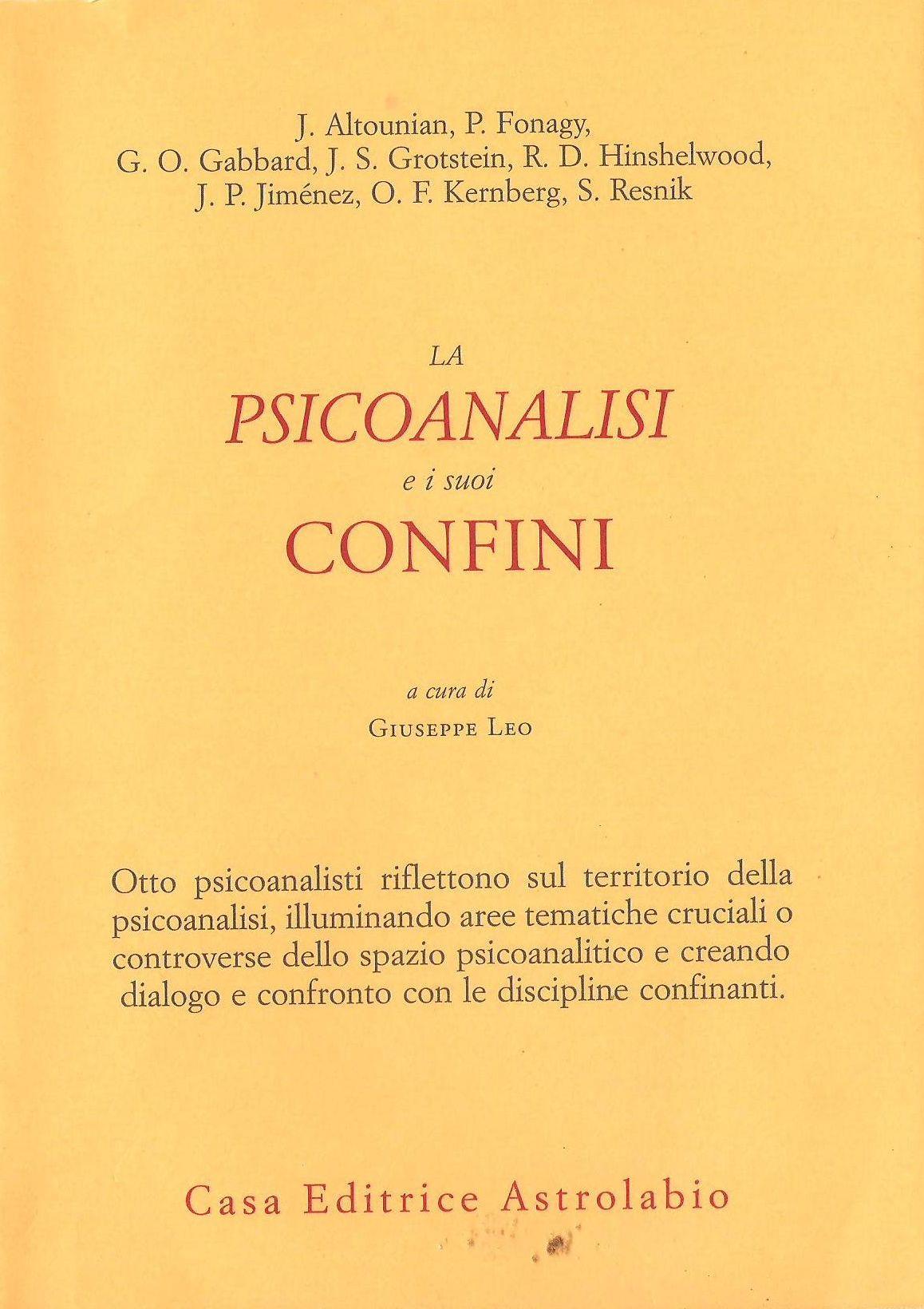La psicoanalisi e i suoi confini