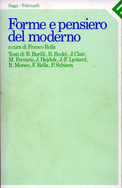 Forme e pensiero del moderno