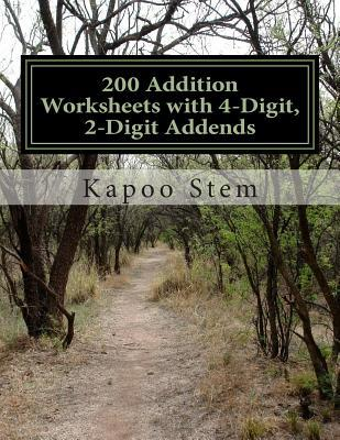 200 Addition Worksheets With 4-digit, 2-digit Addends